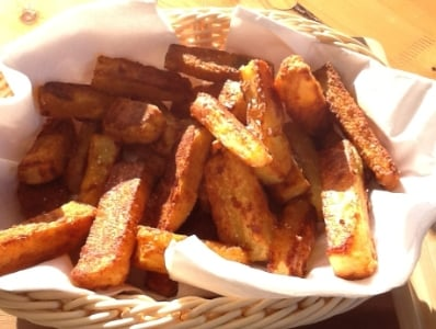 Homemade Low Fat Crispy Oven Chips| Sarah James | https://www.talesfromthekitchenshed.com
