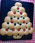 https://www.talesfromthekitchenshed.com |Olive, Tomato and Herb Christmas Tree Bread | Sarah James