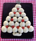 http://www.talesfromthekitchenshed.com |Olive, Tomato and Herb Christmas Tree Bread | Sarah James