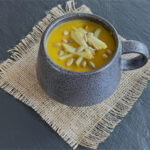 http://www.talesfromthekitchenshed.com | Spicy Roast Squash and Apple Soup| Sarah James