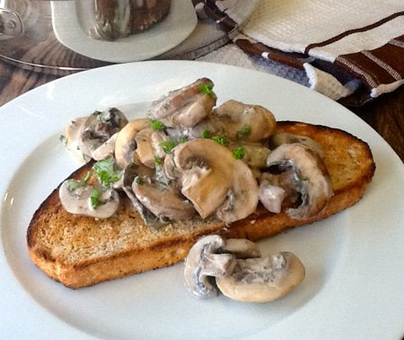 Creamy Mushrooms On Toast | http://www.talesfromthekitchenshed.com ...