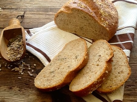 Home Made Multigrain Bread full of tasty seeds & grains & so easy to make. You can't beat a homemade loaf!