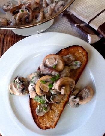 Creamy Mushrooms On Toast | https://www.talesfromthekitchenshed.com | Sarah James