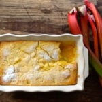 Self Saucing Rhubarb & Custard Pudding