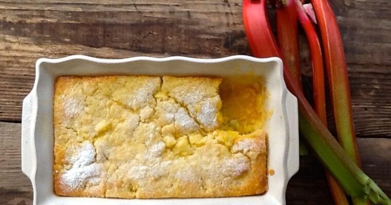 Self Saucing Rhubarb & Custard Pudding