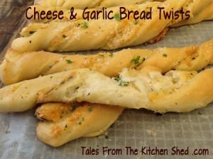 Homemade Garlic Bread Twists