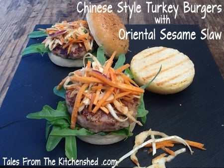 Looking for a healthy alternative to beef burger? Low-fat Chinese style Turkey Burgers with a kick of chilli, ginger and Chinese spices.