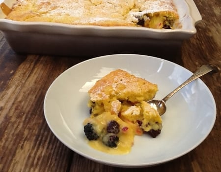 Self Saucing Blackberry & Apple Pudding