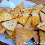 Homemade Tortilla Chips are easy to make & healthier than shop bought. Baked in the oven for less than 10 minutes & ready to serve with your favourite salsa or chilli beans.