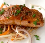 Oriental Sesame Salmon is an easy & delicious 15 minute dinner. Full of flavour & healthy too!