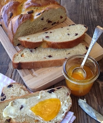Pumpkin & Cranberry Bread - the pumpkin adds moisture and a natural sweetness to the bread and pairs well with cranberries; lightly spiced with cinnamon it's a real taste of Autumn. Serve a buttered slice with a cup of tea for a perfect teatime treat!
