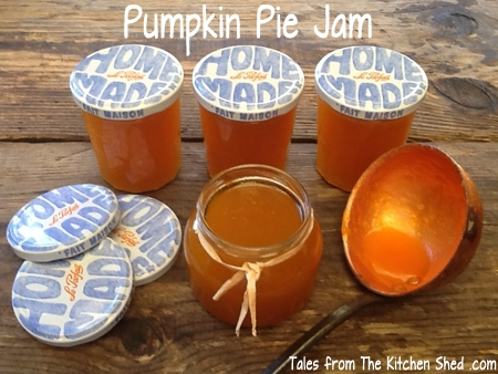 Don't let your pumpkin innards go to waste – try this beautiful Pumpkin Pie Jam! Laced with pumpkin pie spice and a touch of ginger, a taste of Autumn all year round! Great with cheese, use as an ingredient in your baking & make pumpkin pie, cupcakes, muffins or cookies.
