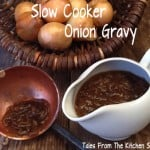 Slow Cooker Onion Gravy