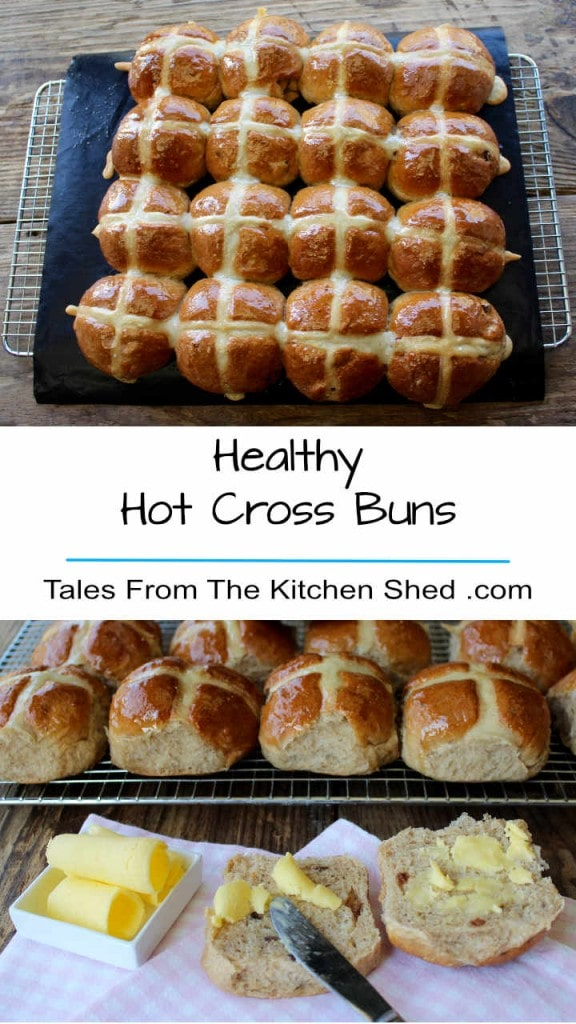 Healthy Hot Cross Buns Long Pin.