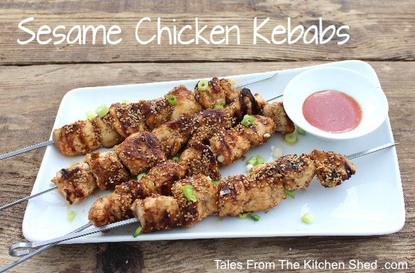 Sesame Chicken Kebabs