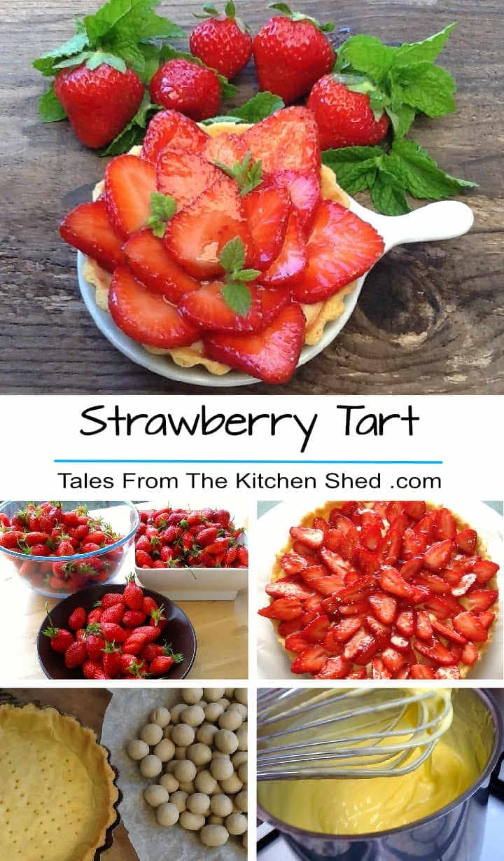 A classic Strawberry Tart recipe using summer's finest juiciest fruits with a creme patissiere & homemade strawberry glaze - delicious!