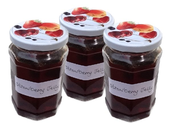 Homemade Strawberry Jelly & Glaze - a seedless strawberry jam. Perfect for topping summer desserts - strawberry tart, pavlova, cheesecakes & ice cream!