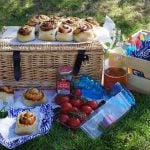 Cheese & Pickle Tear & Share Bread stuffed with cheese, ham & pickle - a delicious ready made sandwich for picnics & packed lunches!
