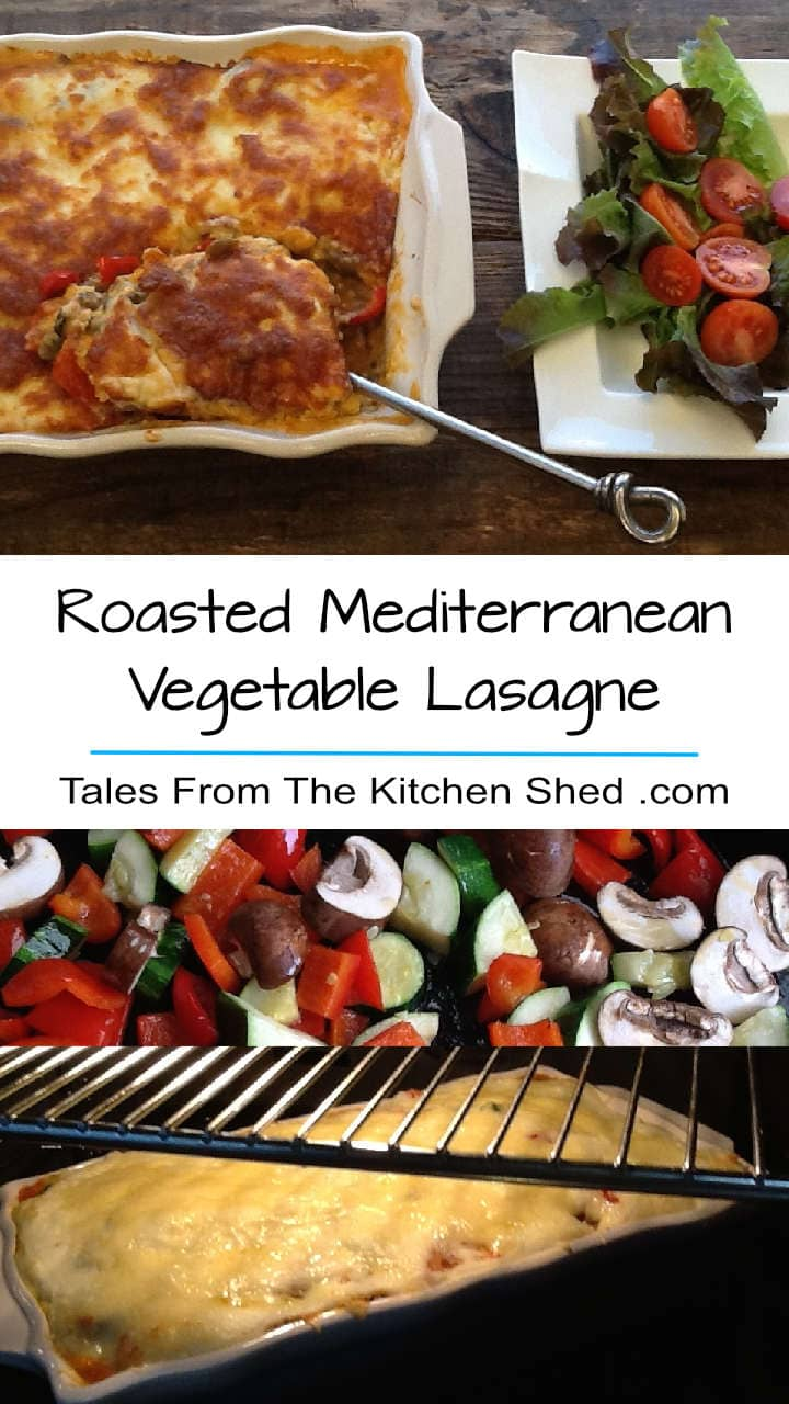 Roasted Mediterranean Vegetable Lasagne is packed with veggies, green lentils & a homemade creamy béchamel sauce. For vegetarian's & meat lover's alike!