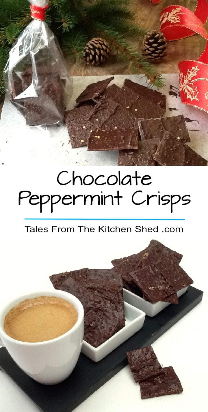 This little chocolate peppermint crisps are so easy to make and if you can resist eating them all, they make a perfect hand made gift.
