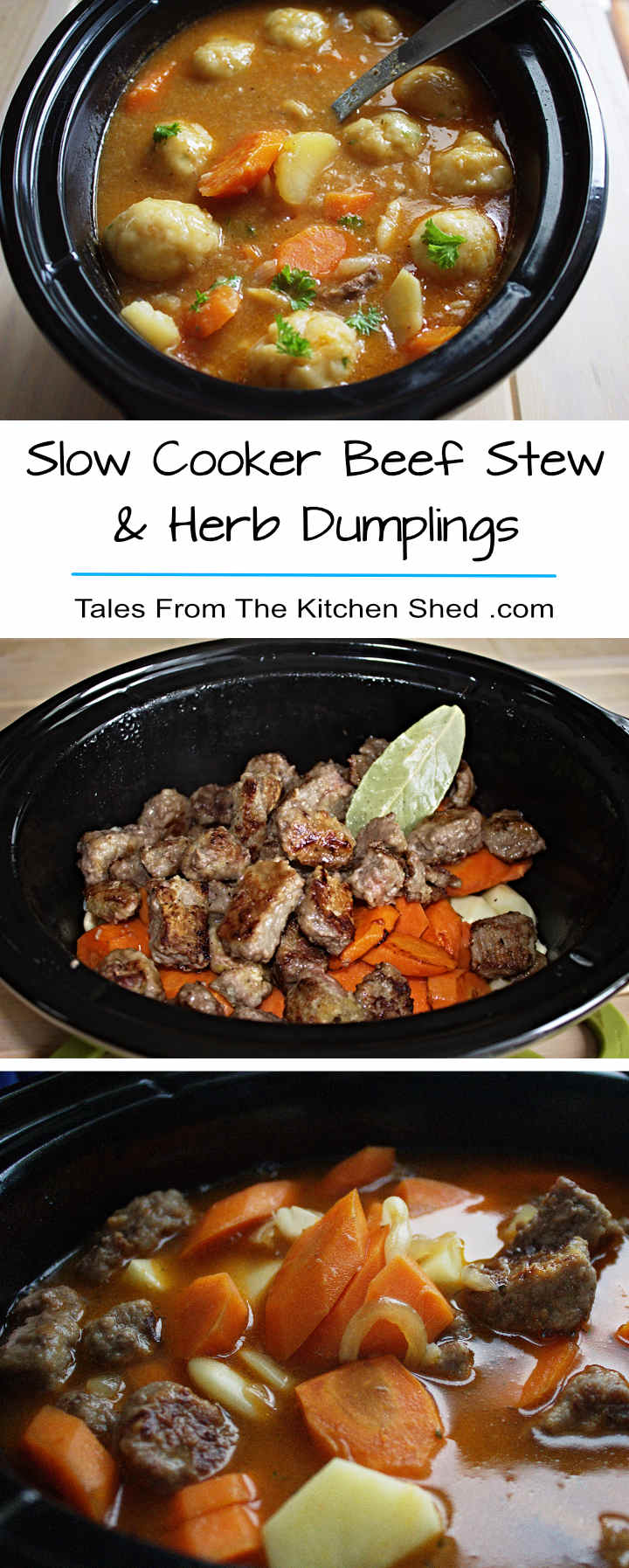 Slow Cooker Beef Stew Herb Dumplings Tales From The Kitchen Shed