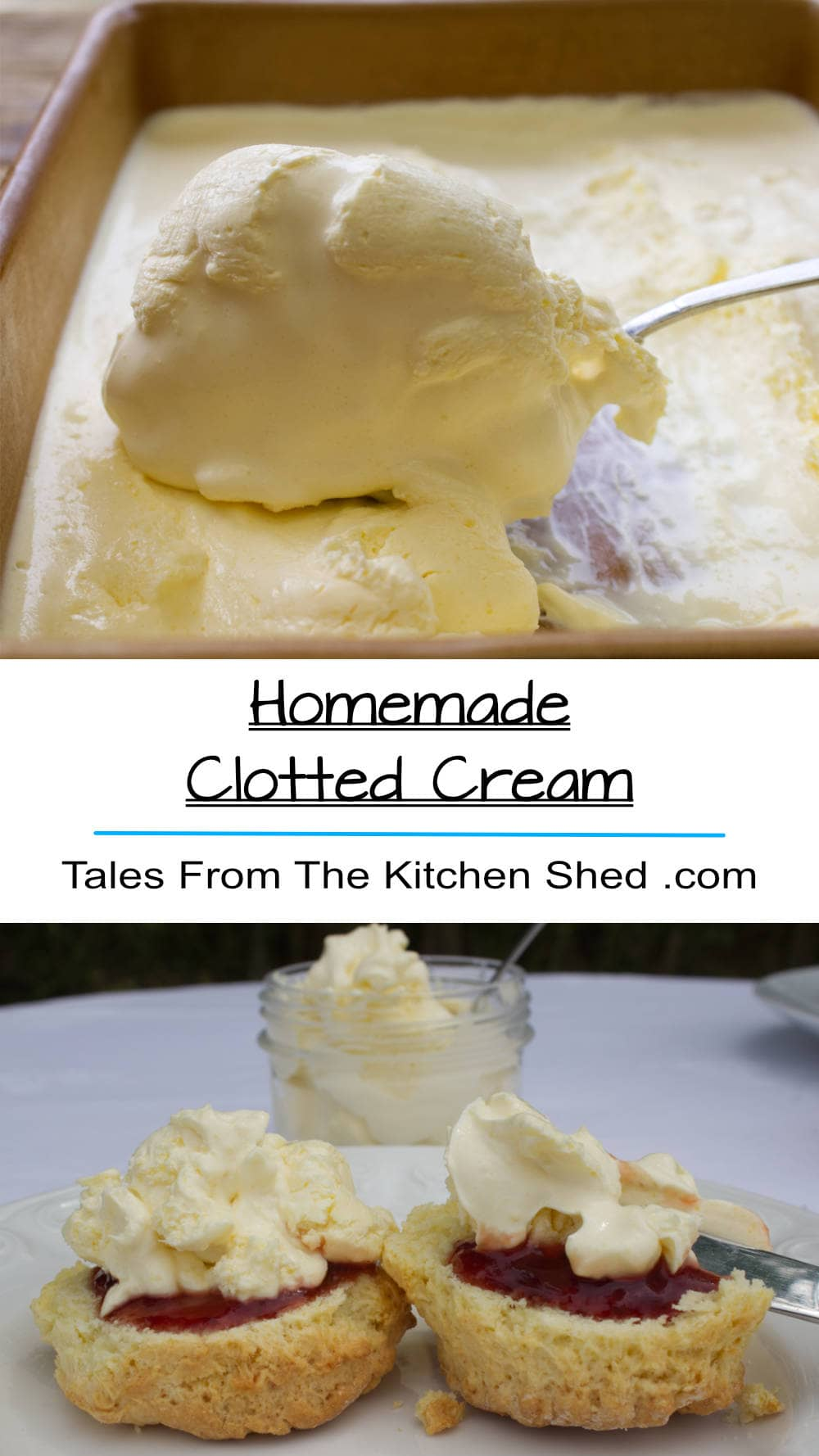 Homemade Clotted Cream is quick & easy to make. Deliciously decadent served with warm scones & homemade jam for a perfect cream tea.