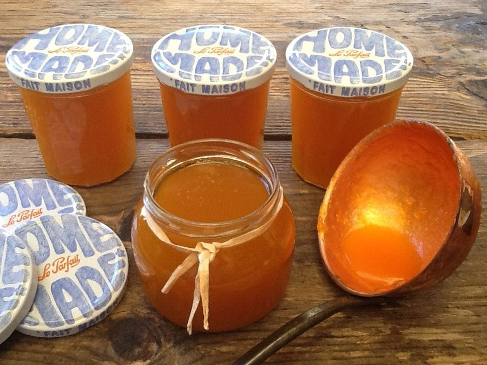 Pumpkin Pie Jam ready to be labelled
