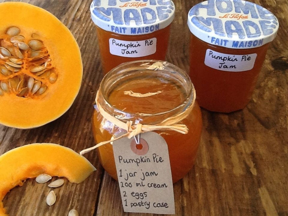 Pumpkin Pie Jam and pumpkin