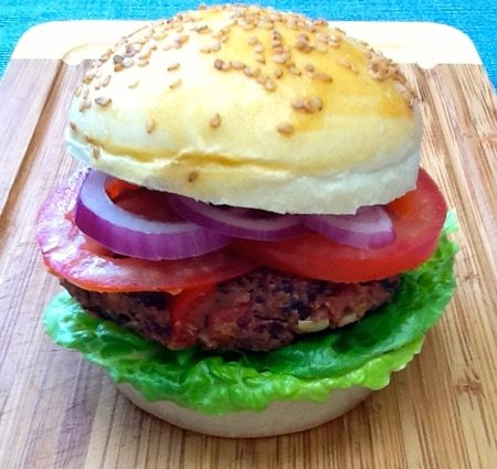 a tasty meat free burger