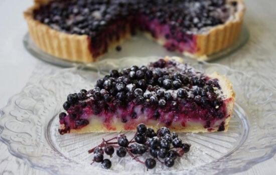 Elderberry Tart with Cassis
