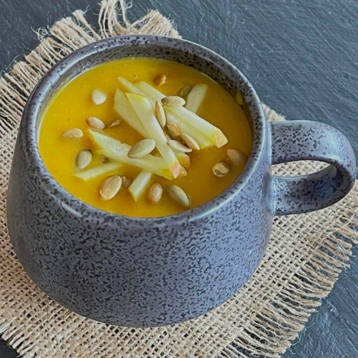 A mug of soup.